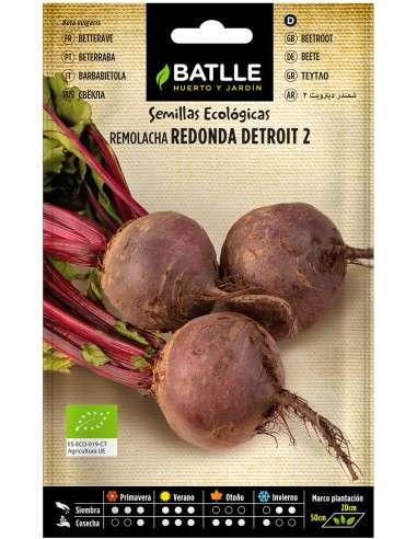Semillas de Remolacha Detroit 2 Ecológicas