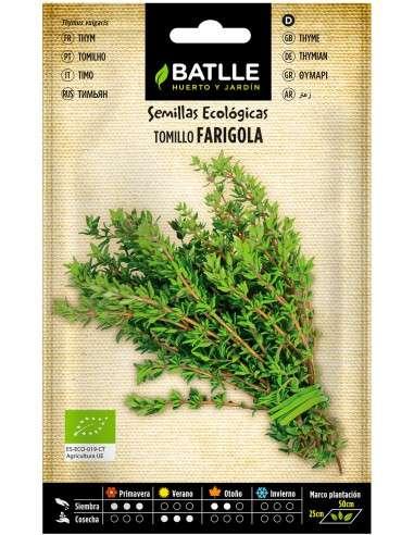 Semillas de Tomillo Thymus vulgaris Ecológicas