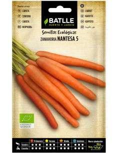 Semillas de Zanahoria Nantesa 5 Ecológicas