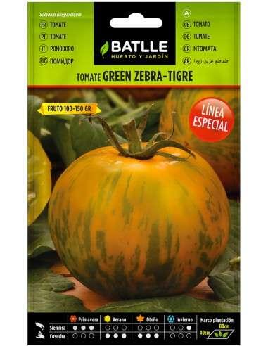 Semillas Tomate Green Zebra - Tigre