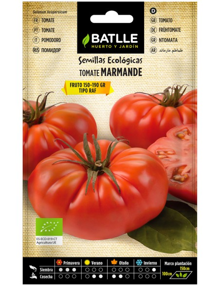 Semillas Tomate Marmande RAF Ecologicas