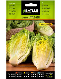 Semillas de Lechuga Cogollo Little Gem 7g.