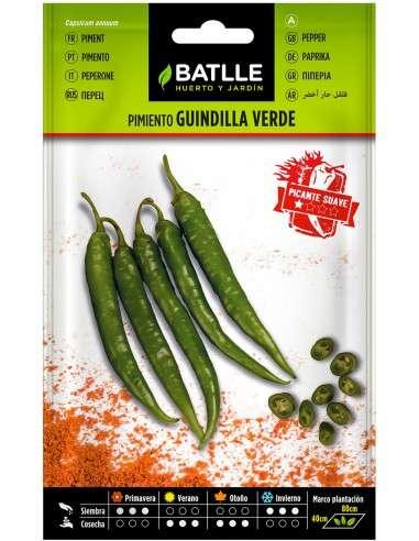 Semillas de Pimiento Guindilla Verde 2g.