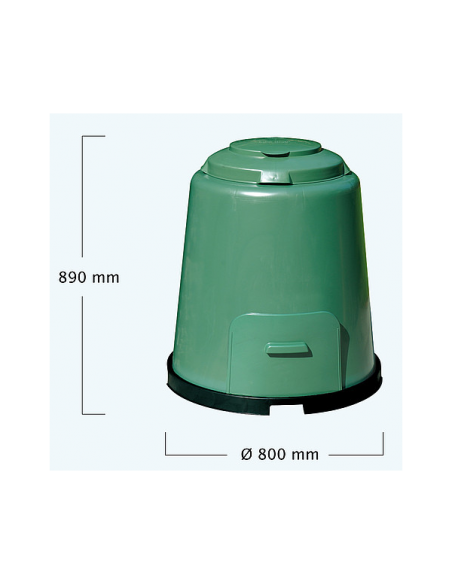 Compostador Rápido Graf 280L Verde GRAF - 3