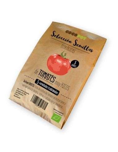 Selección Semillas ECO 5 variedades de Tomates muy ricos