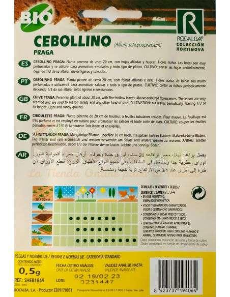 Semillas Ecológicas de Cebollino Praga