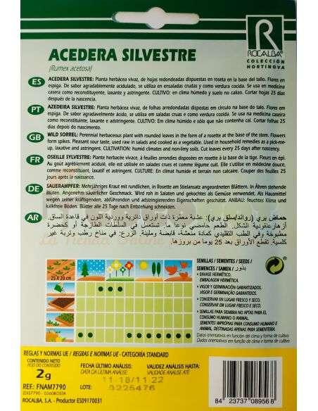 Semillas de Acedera Silvestre