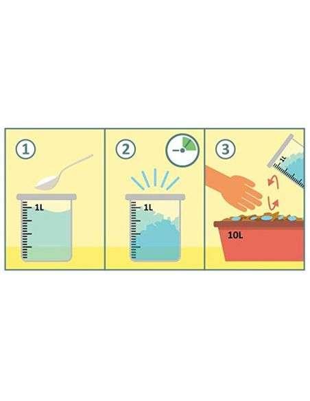 HidroGel 100g. Retenedor de agua para 125L. de sustrato