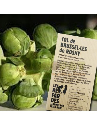 Semillas Ecológicas Col de Bruselas