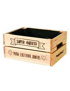 """Caja Huerto """"Cultivar Juntos"""" 23x31xh15 COCOPOT - 1"""