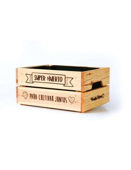 """Caja Huerto """"Cultivar Juntos"""" 23x31xh15 COCOPOT - 2"""