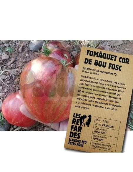 Semillas Ecológicas Tomate Corazón de Toro Negro