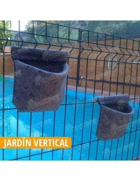 Maceta Vertical Fieltro con Soporte 24x19cm. VERTIFLOR - 7