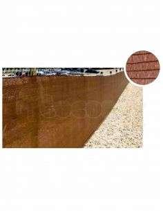 Malla Ocultación Marrón 1,5m. Ancho x Rollo 100m