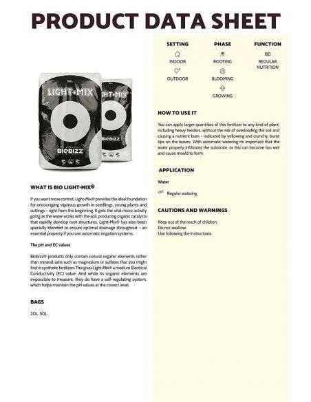 Sustrato de Siembra y semilleros 20 litros BIO