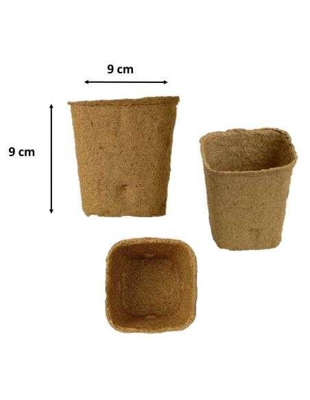Macetas Ecológicas 9x9cm. Biodegradables con refuerzo