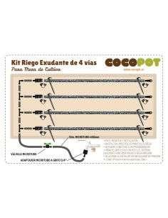 120x80 cm Kit Riego Exudante Mesa Cultivo 4 vías