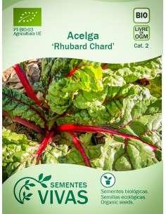 Semillas Ecológicas Acelga Rhubard Chard - 5g.