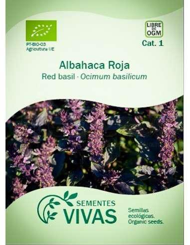 Semillas Ecológicas Albahaca roja - 2g.