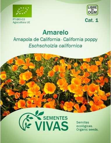 Semillas Ecológicas Amapola de California amarilla - 1g.