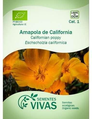 Semillas Ecológicas Amapola de California naranja - 1g.
