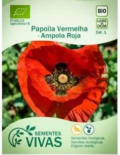 Semillas Ecológicas Amapola roja - 1g.