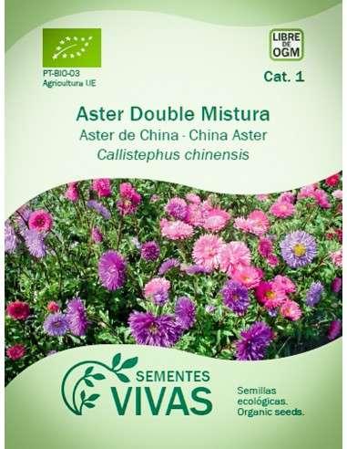 Semillas Ecológicas Aster de China Double Mix - 0,75g.