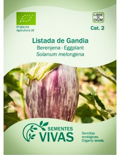 Semillas Ecológicas Berenjena Listada de Gandia - 0,4g.