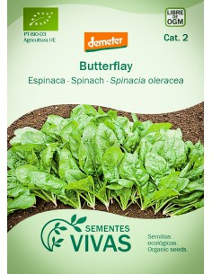 Semillas Ecológicas Espinaca Butterflay - 10g.