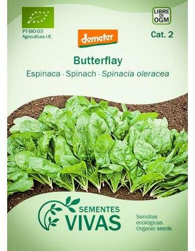 Semillas Ecológicas Espinaca Butterflay - 10g.