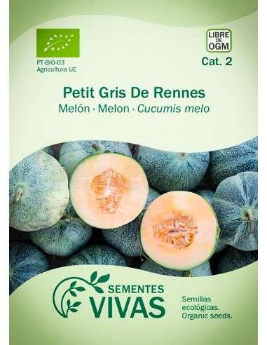 Semillas Ecológicas Melón Petit gris de Rennes - 1,5g.