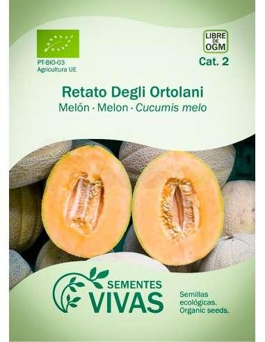 Semillas Ecológicas Melón Retato degli ortolani - 1,5g.