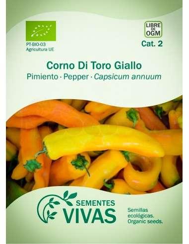 Semillas Ecológicas Pimiento Corno di toro giallo - 0,3g.
