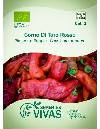 Semillas Ecológicas Pimiento Corno di toro rosso - 0,3g.