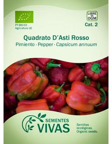 Semillas Ecológicas Pimiento Quadrato dAsti rosso - 0,3g.