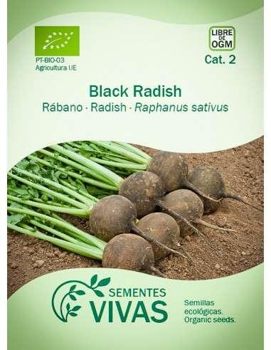 Semillas Ecológicas Rábano Black Spanish Round - 7g.