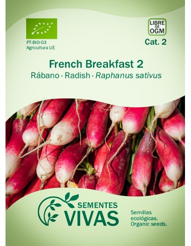 Semillas Ecológicas Rábano French Breakfast 2 - 4g.