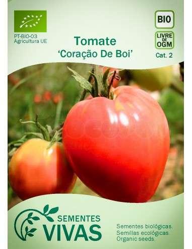 Semillas Ecológicas Tomate Coraçao de Boi - 0,3g.