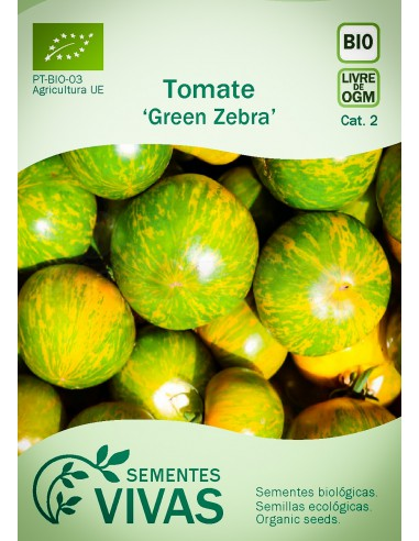 Semillas Ecológicas Tomate Green Zebra - 0,3g.
