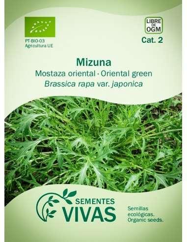 Semillas Ecológicas Verdura asiática Mizuna - 2g.