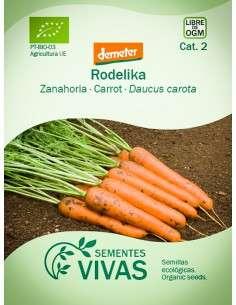 Semillas Ecológicas Zanahoria Rodelika - 2g.