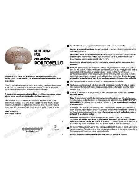 Bala Champiñón Portobello 6-7Kg. Germinada
