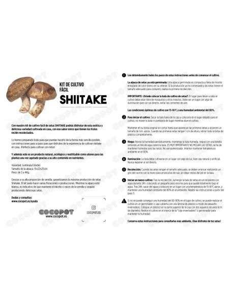 Bala Setas de Shii-Take Ecológica 4Kg.