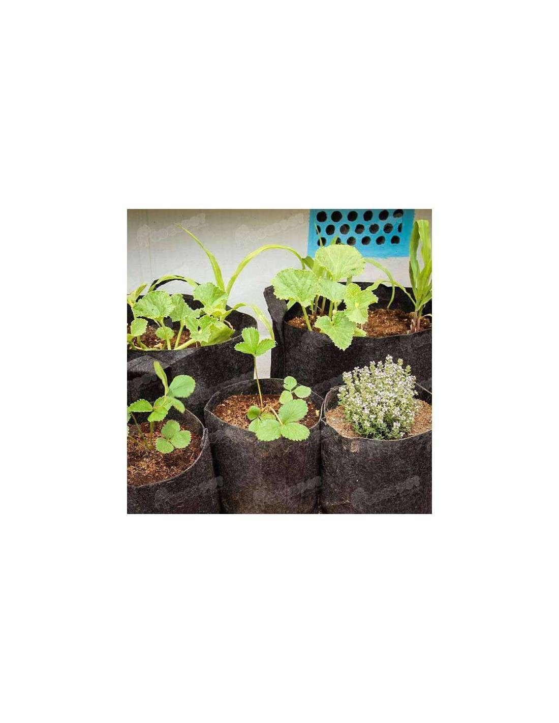 Venta de macetas 16 litros root pouch en cocopot huerto urbano for Jardin vertical de fieltro en formato kit