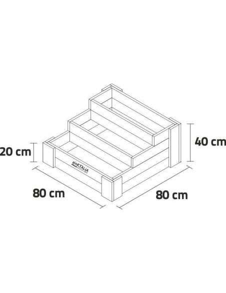 Huerto en Escalera Hortalia Stairs 80x80x40cm