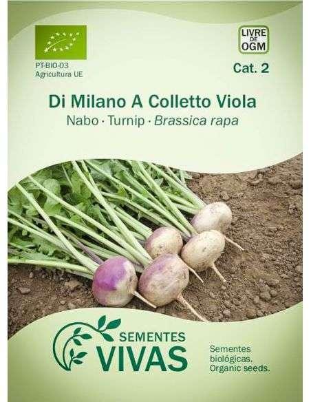 Semillas Ecológicas Nabo Di Milano - 1,5g.
