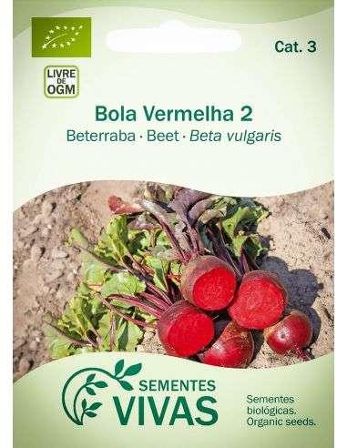 Semillas Ecológicas Remolacha Bola Vermelha 2 - 3g.