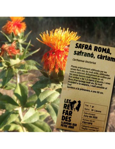 Semillas Ecológicas Cártamo (Azafrán silvestre)