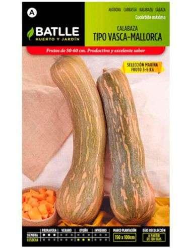 Semillas de Calabaza tipo Vasca - Mallorca 5g.