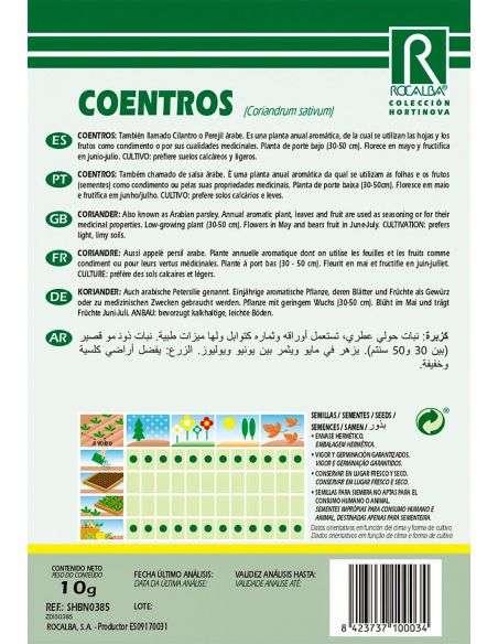 Semillas de Coentros, Cilantro o Perejil árabe 10g.